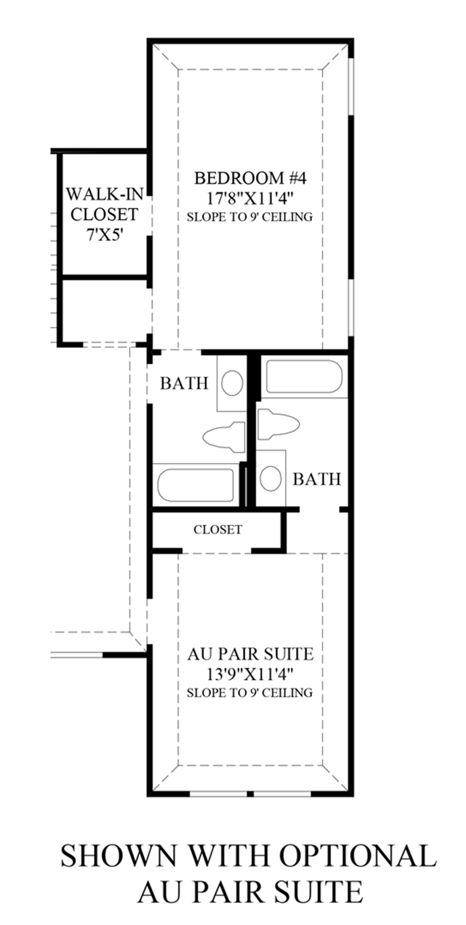 Optional Au Pair Suite Floor Plan