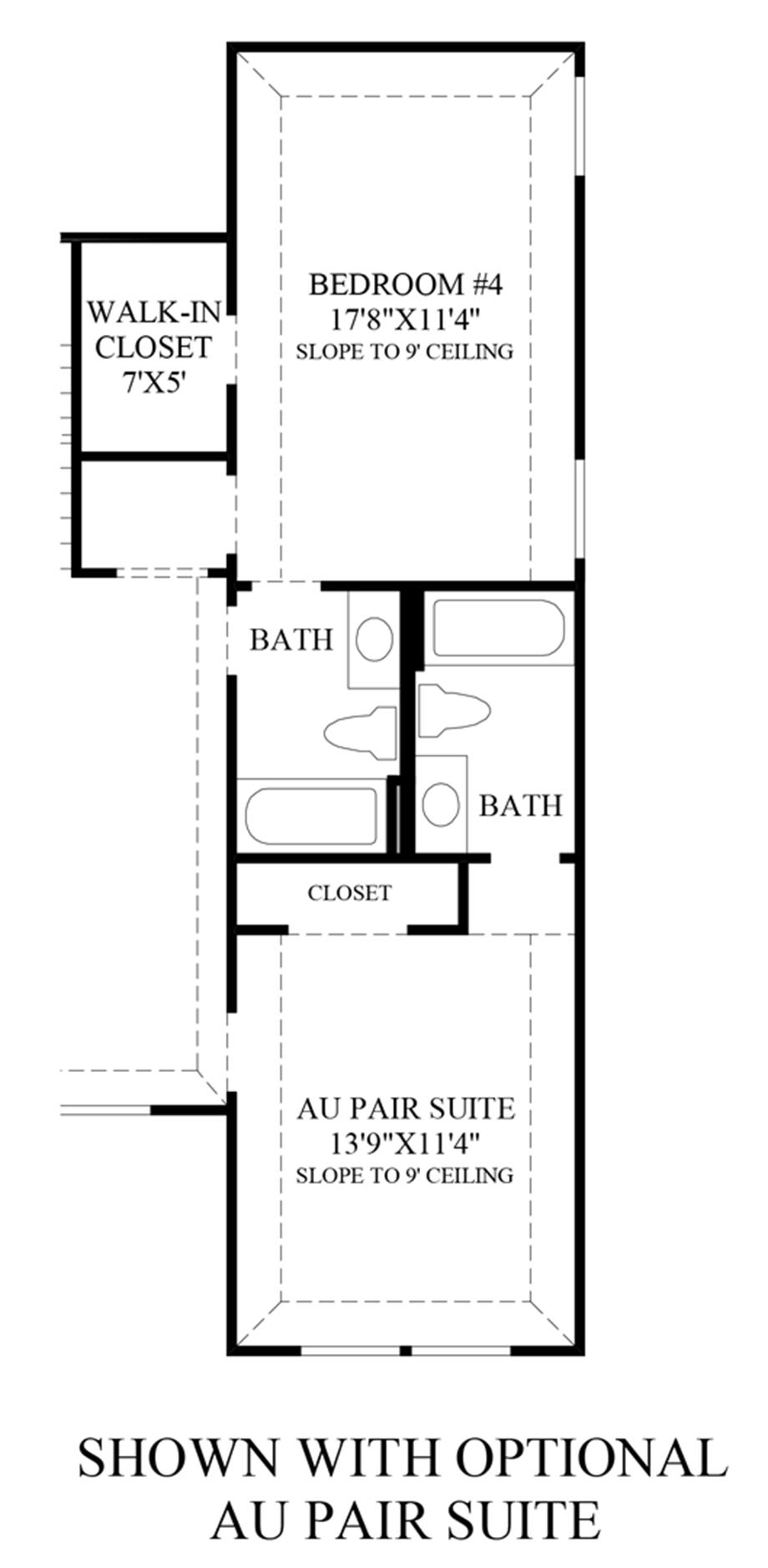 Optional Au Pair Suite Floor Plan