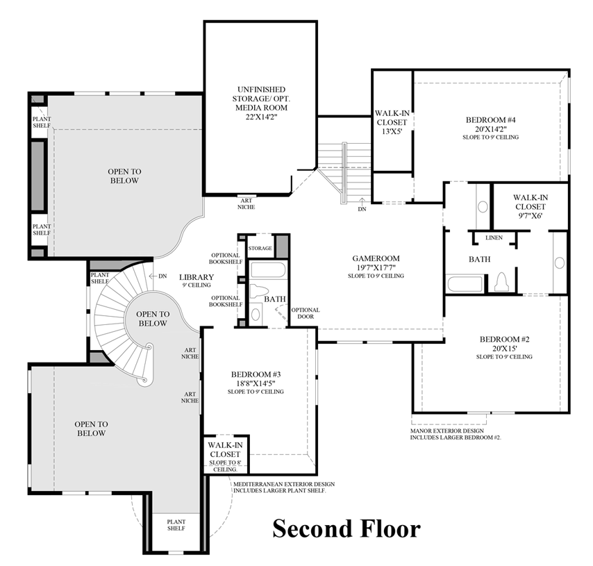 The Sandhaven Home Design: Floor Plans