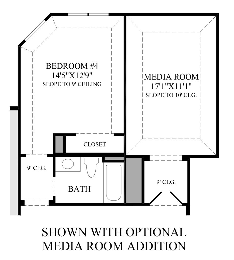Optional Media Room Additiona Floor Plan