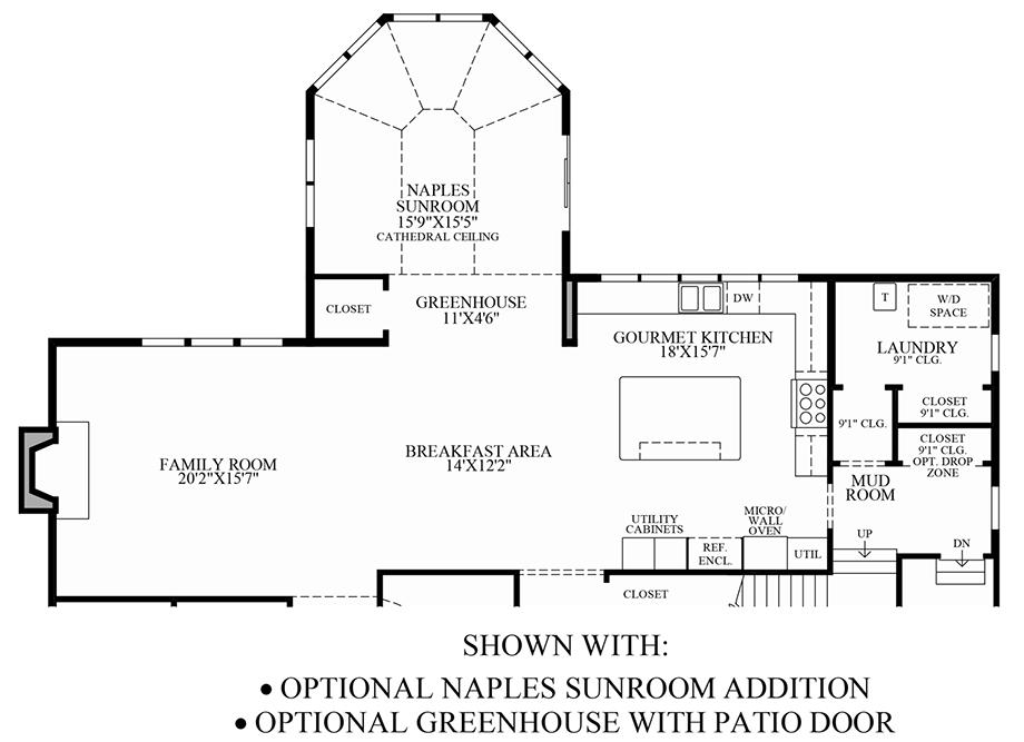 Optional Sunroom Addition/Greenhouse Floor Plan