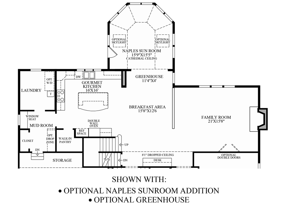 Greenville overlook the stansbury home design for Greenhouse floor plan