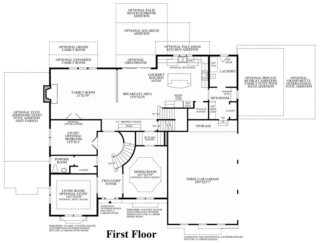 the woods of south barrington estate collection the harding view floor plans