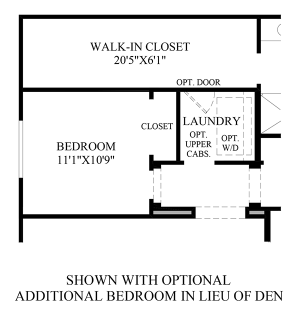 Optional Additional Bedroom ILO Den