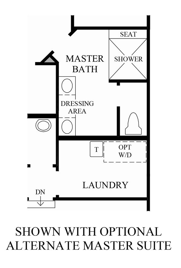 Optional Alternate Master Suite