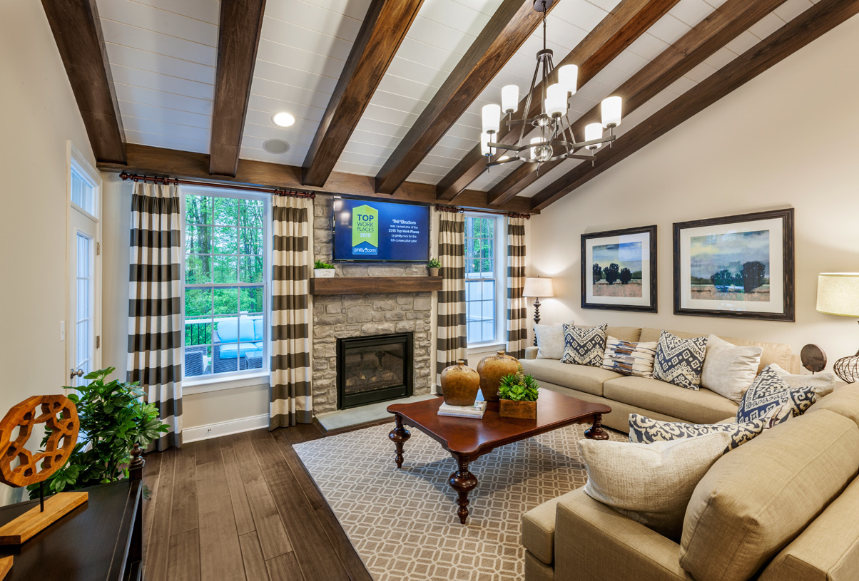 Cozy great room with gas fireplace