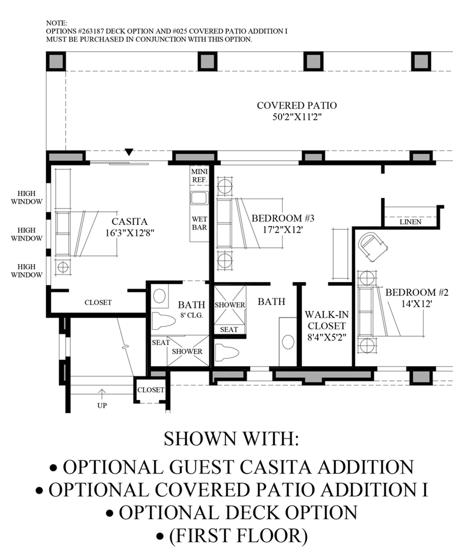 Optional Guest Casita/Patio/Deck (1st Floor) Floor Plan