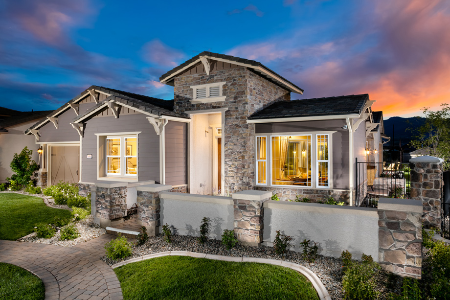 Reno nv active adult community regency at damonte ranch for Craftsman model homes