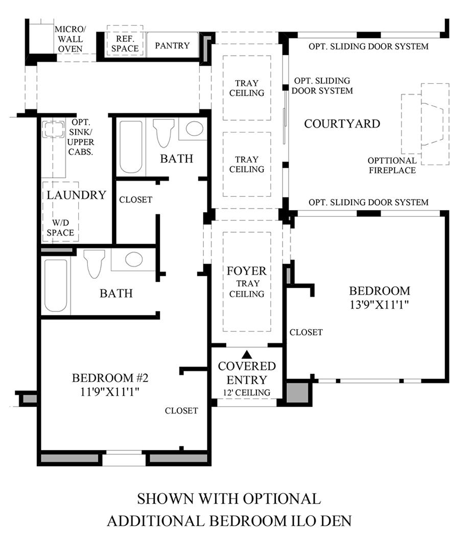Optional Additional Bedroom ILO Den Floor Plan