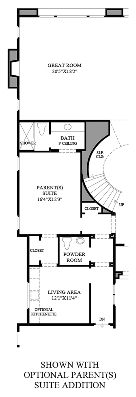 Optional Parent(s) Suite Addition Floor Plan