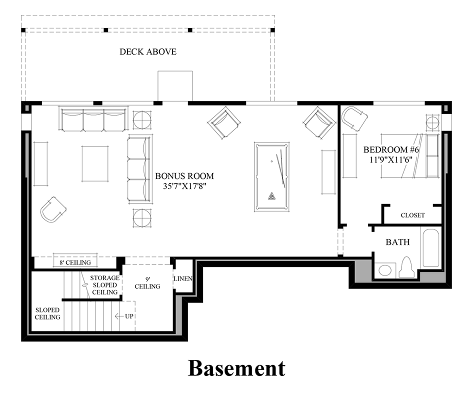 Sequoia glen executive the tacoma with basement home for Design your own basement floor plans