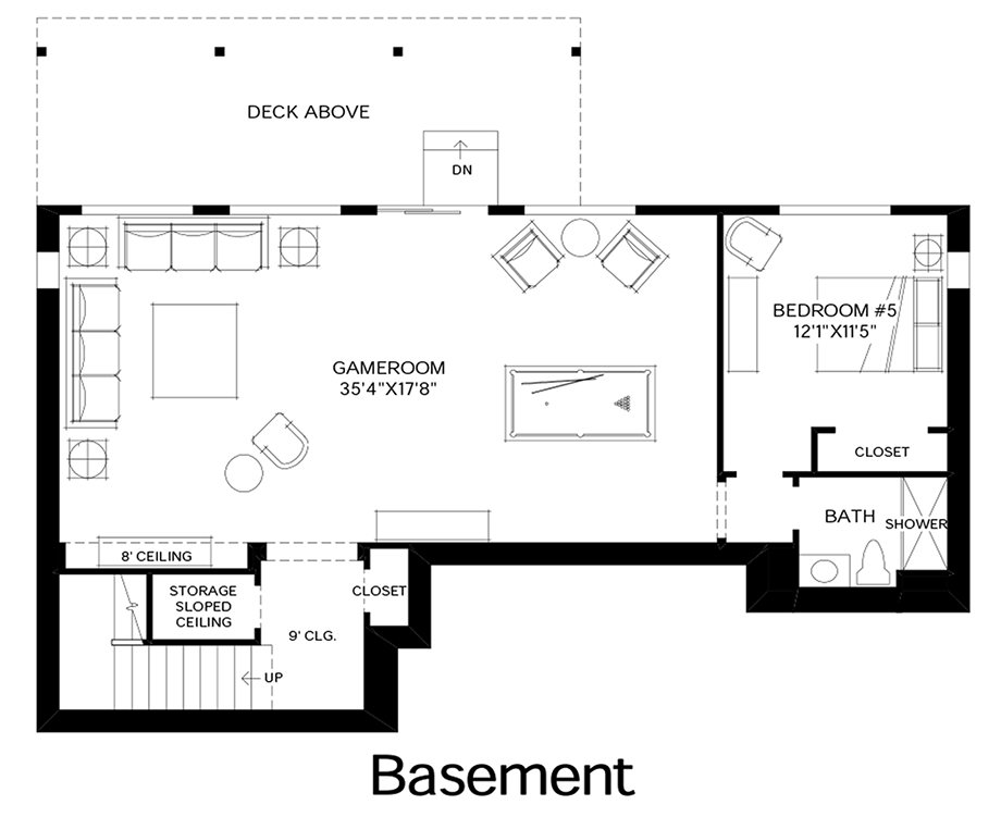Talon ridge the tacoma with basement home design for Design your own basement floor plans