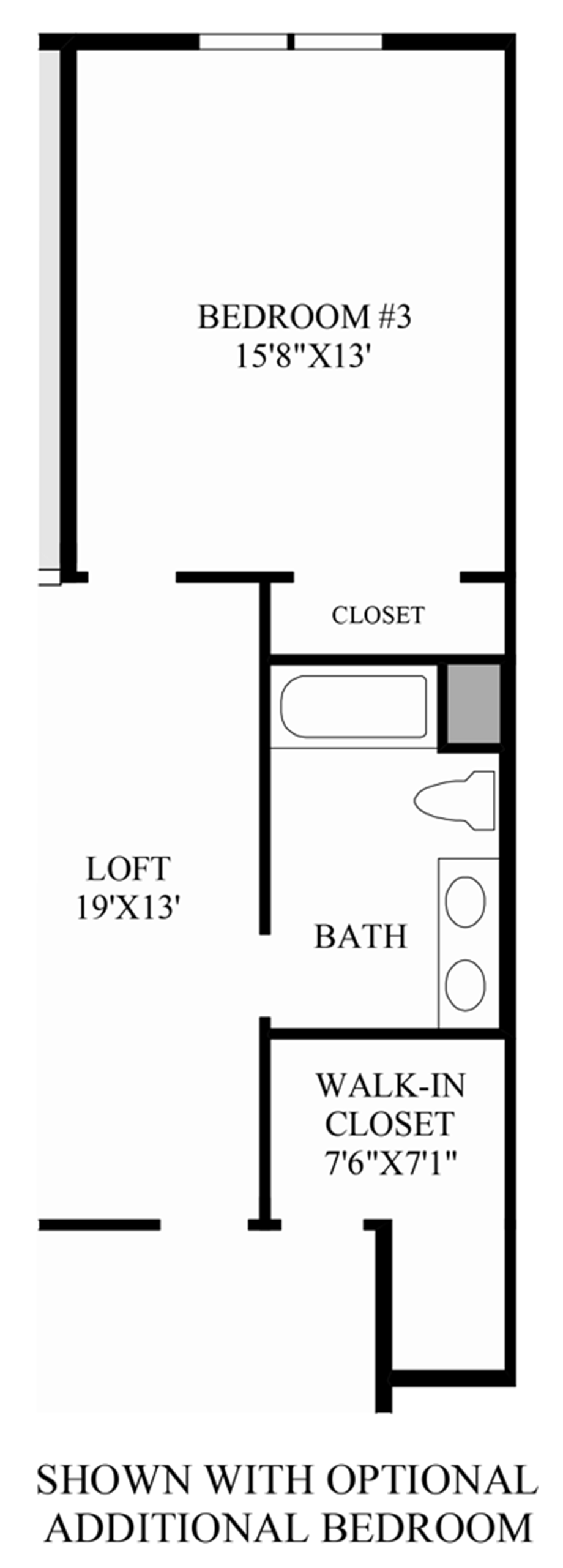 Optional Additional Bed Floor Plan