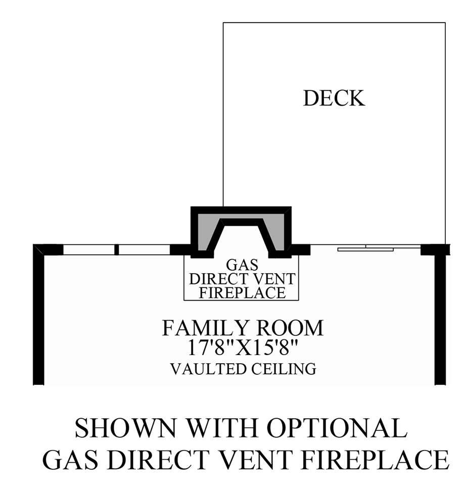 Optional Direct Vent Fireplace Floor Plan