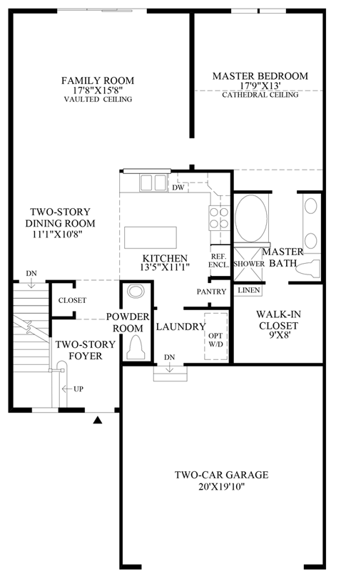 Ridgewood at middlebury the denton home design for Floor plans middlebury