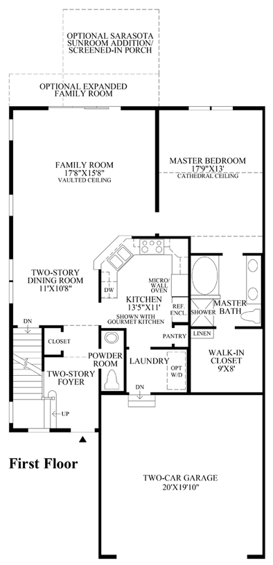 Newtown woods townhome collection the hickory home design for Elite house plans