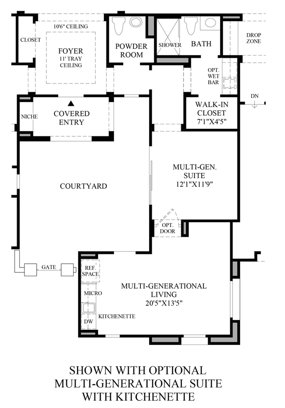 Optional Multi-Generational Suite Floor Plan
