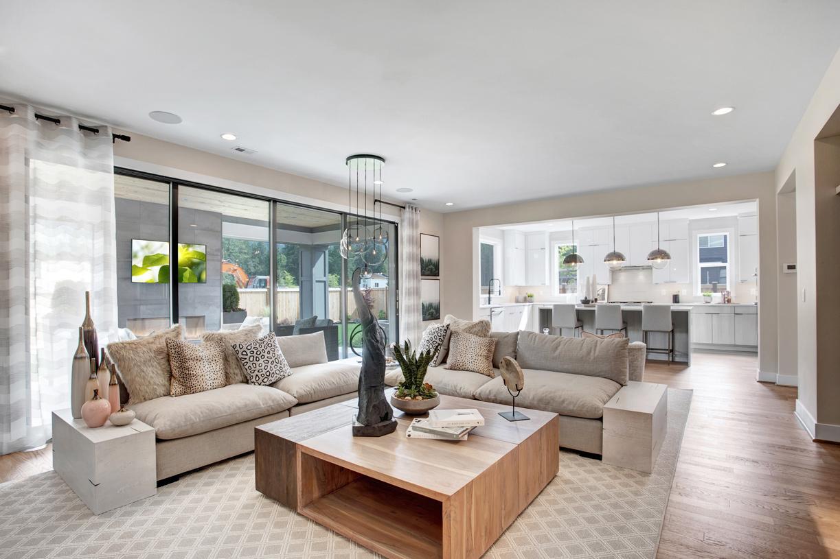 Open concept great room floor plan
