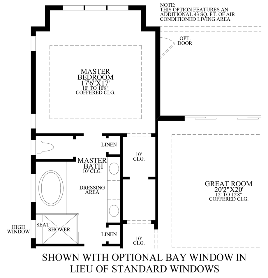 Optional Bay Windows ILO Standard Floor Plan