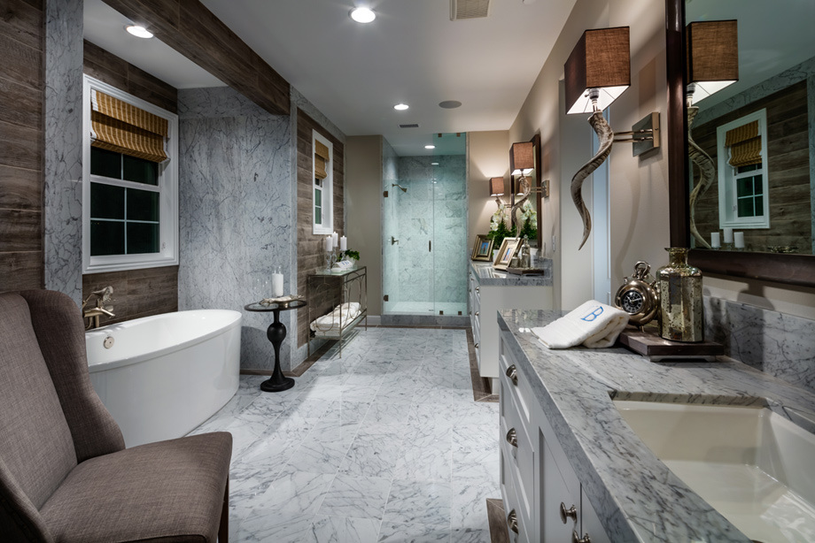 Toll brothers at robertson ranch the ridge the for Model bathrooms photos