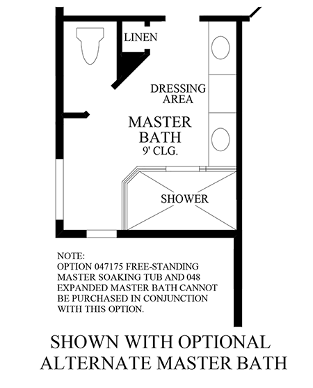 Optional Alternate Master Bath