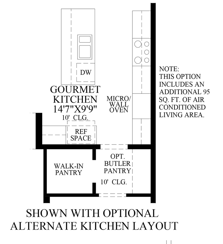 Julington Lakes - Optional Alternate Kitchen Layout