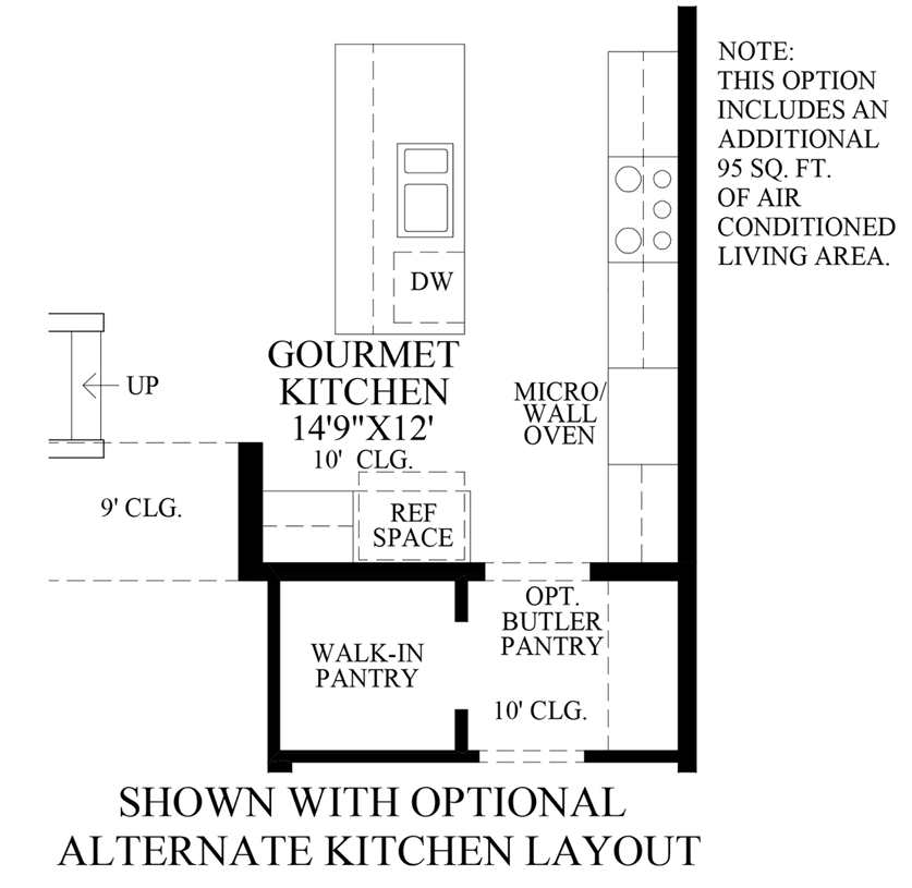 Julington Lakes - Optional Alternate Kitchen Layout