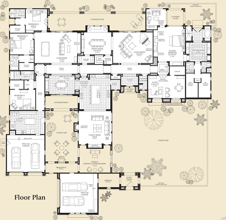 House plans on pinterest floor plans house plans and for Luxury houses plans