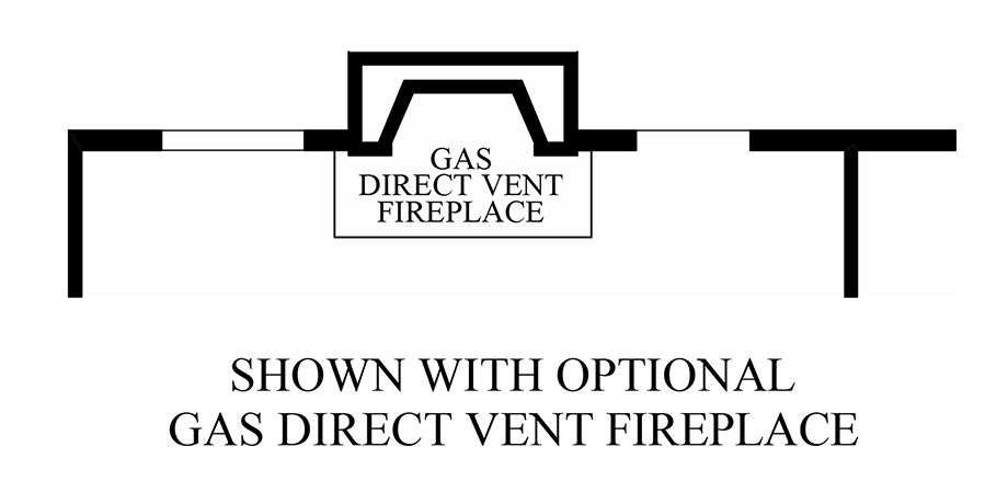 Optional Gas Fireplace Floor Plan