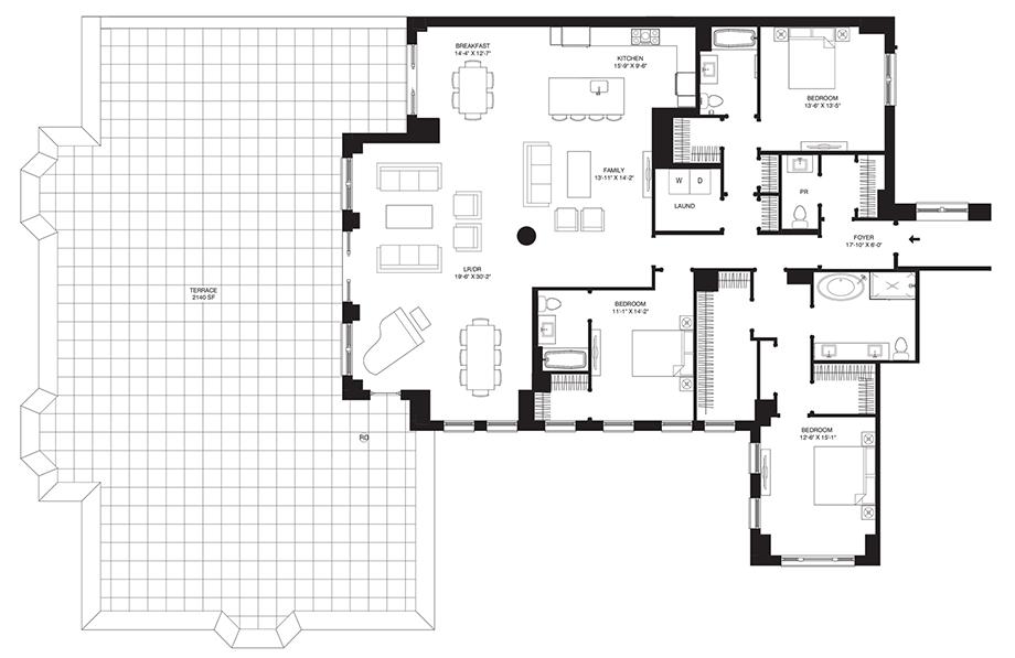 Residence 405 Floor Plan