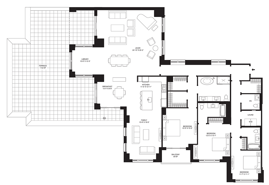 Residence 504 Floor Plan