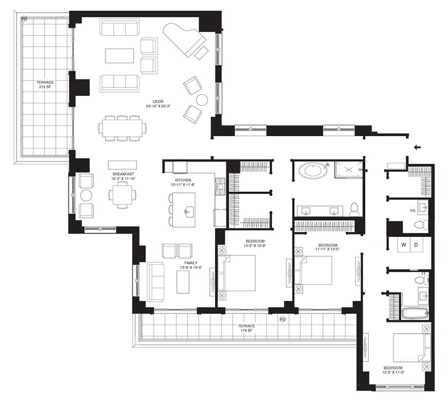Residence 604 Floor Plan