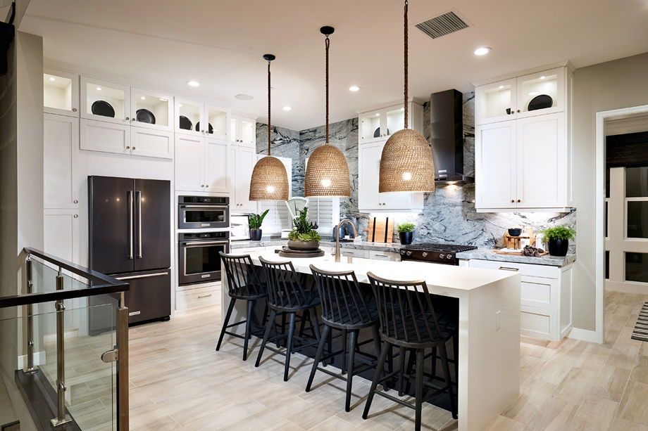 Beautiful kitchen with center island