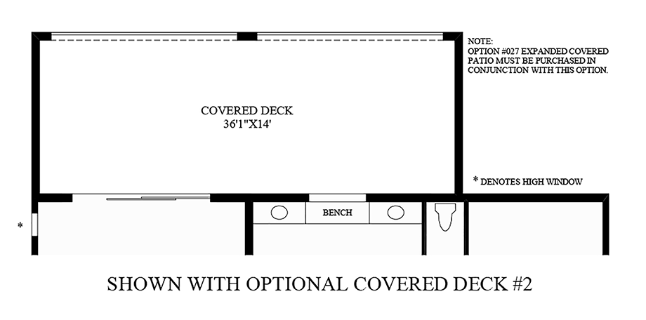 Optional Covered Deck #2 Floor Plan