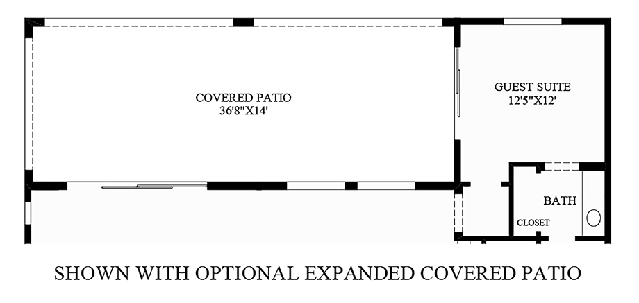 Optional Expanded Covered Patio Floor Plan