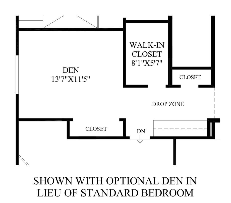 Optional Den ILO Standard Bedroom Floor Plan