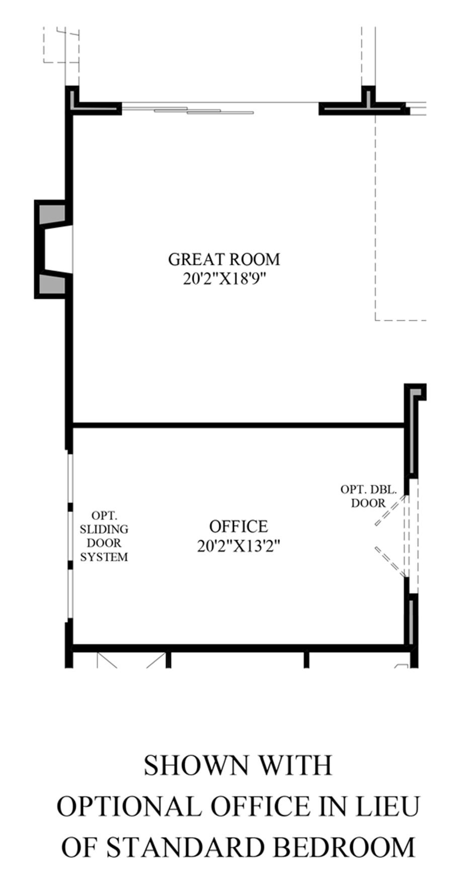 Optional Office ILO Standard Bedroom Floor Plan