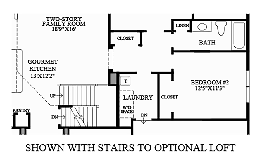 Stairs to Optional Loft Floor Plan