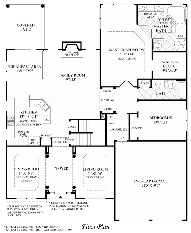 Tradition - Floor Plan