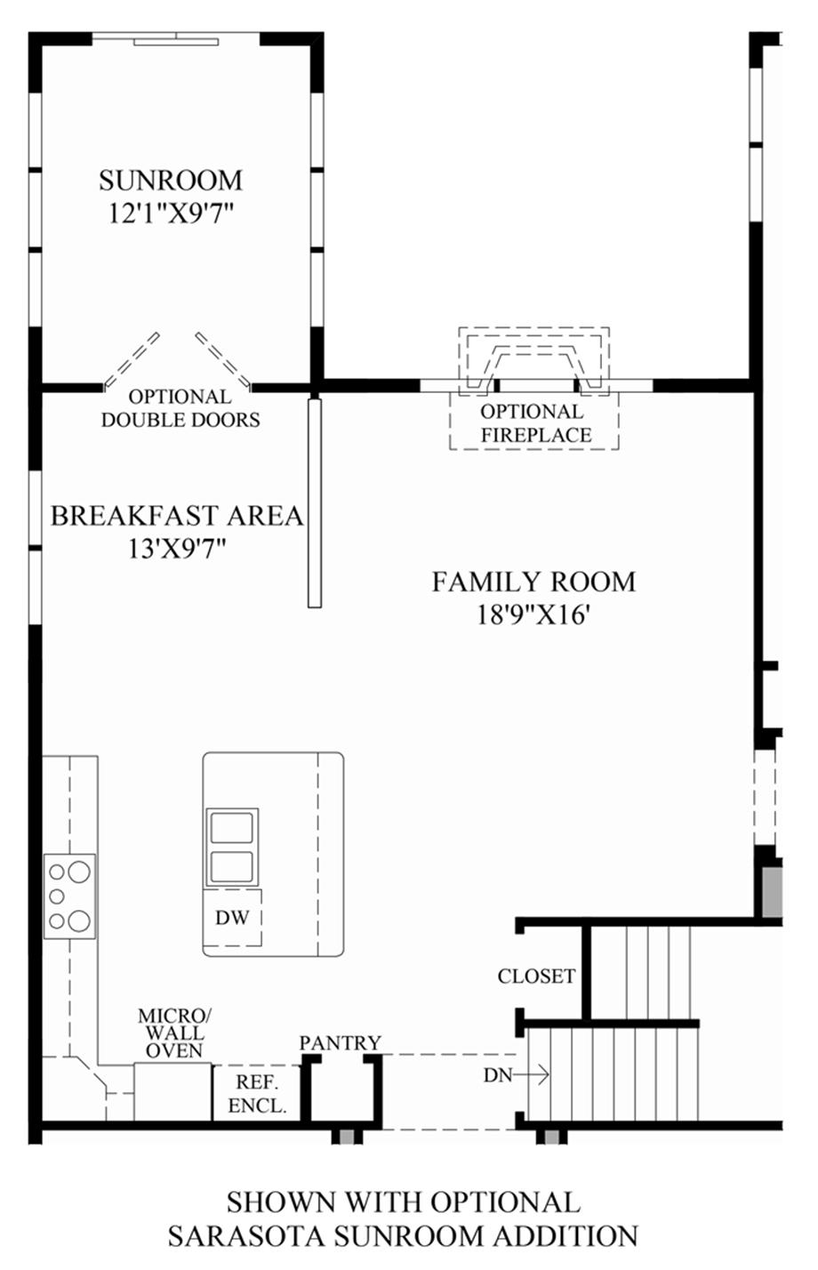 Regency at upper dublin the tradition home design for Sunroom addition floor plans