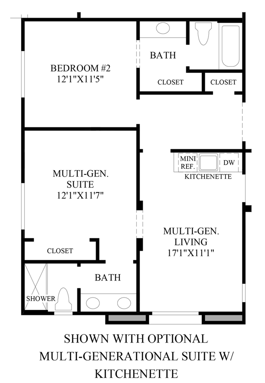 Optional Multi-Generational Suite w/ Kitchenette Floor Plan