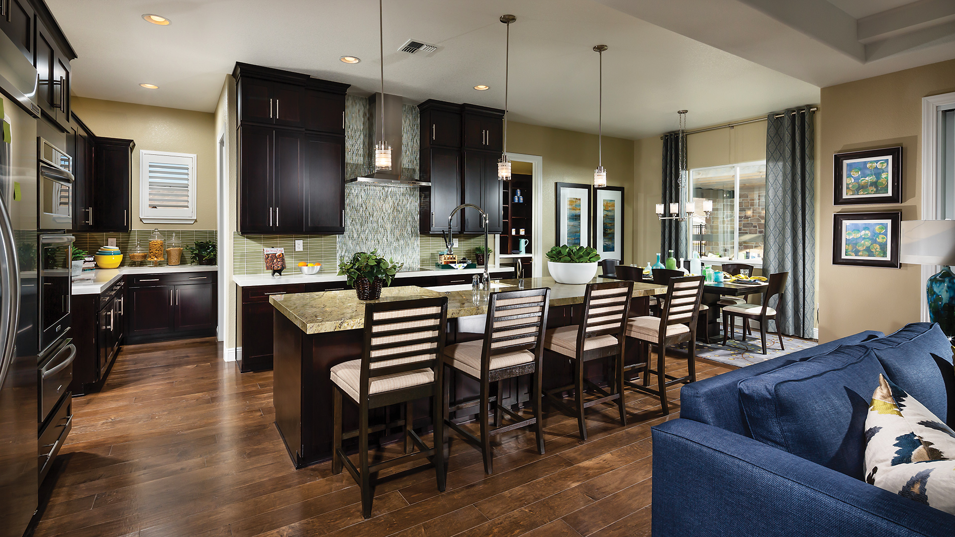Kitchen Model Of The Trapani Home Design Available In Reno, NV