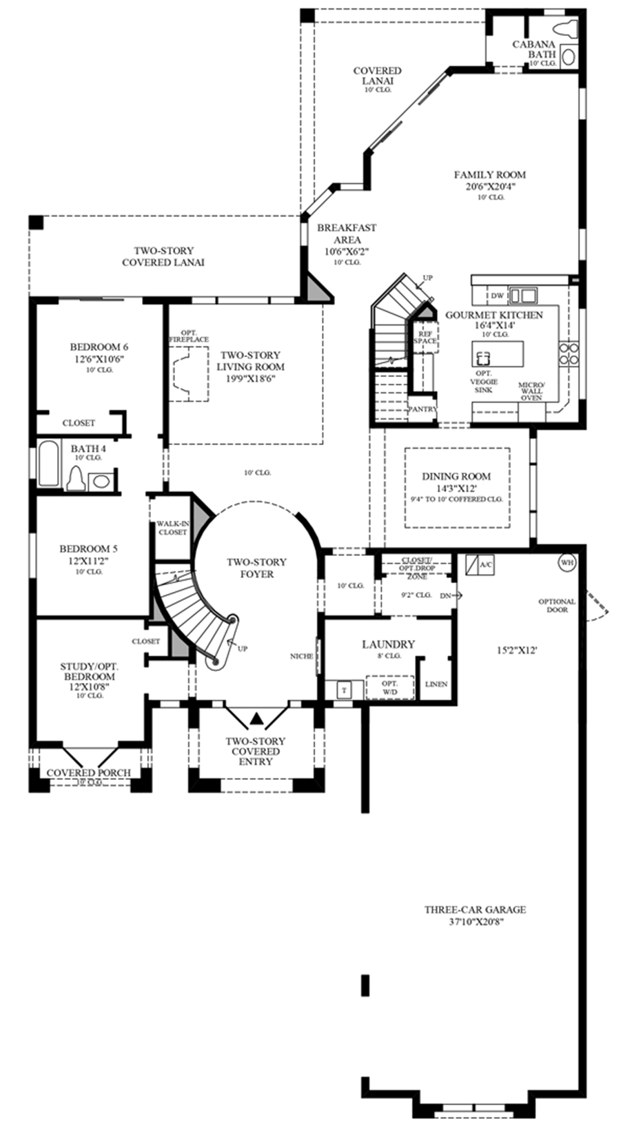 Optional 3-Car Garage Floor Plan