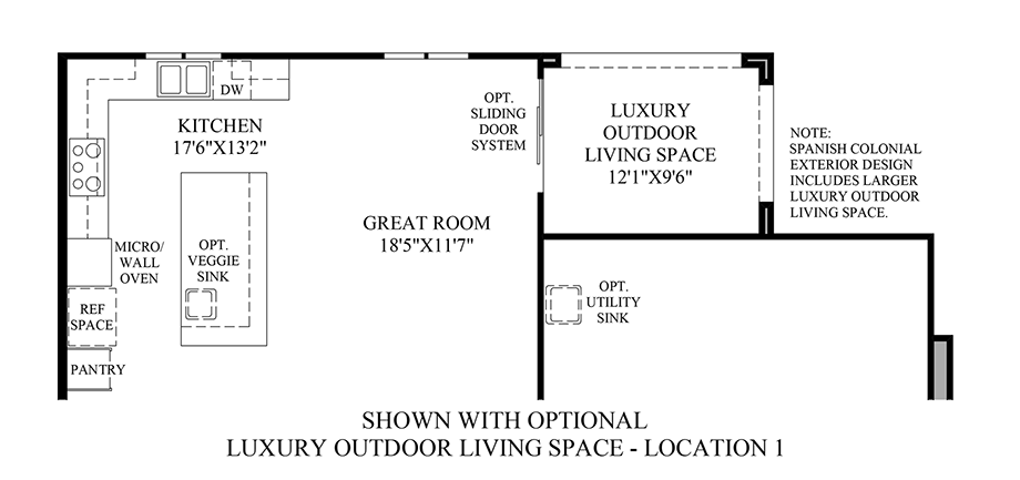 Optional Luxury Outdoor Living Space - Location 1 Floor Plan