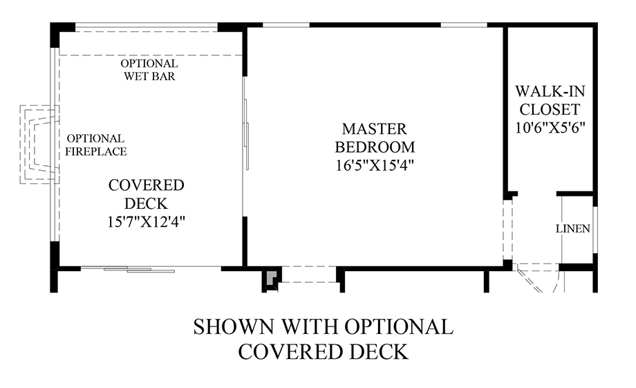 Optional Covered Deck Floor Plan