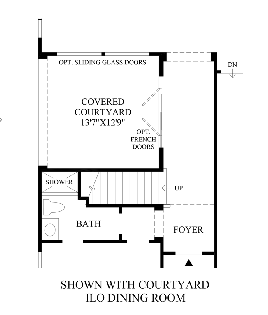 Optional Courtyard ILO Dining Room Floor Plan