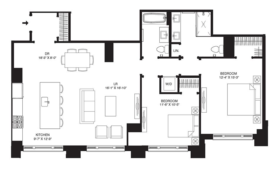 Residence 101 Floor Plan