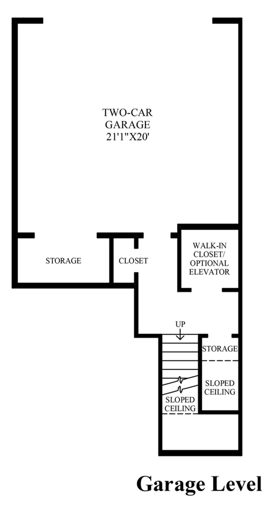 Garage Level Floor Plan
