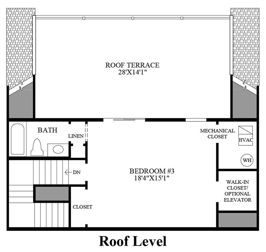 Roof Level Floor Plan