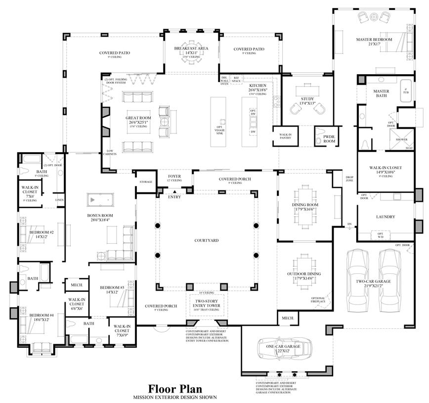 New luxury homes for sale in scottsdale az talon ranch for Arizona floor plans